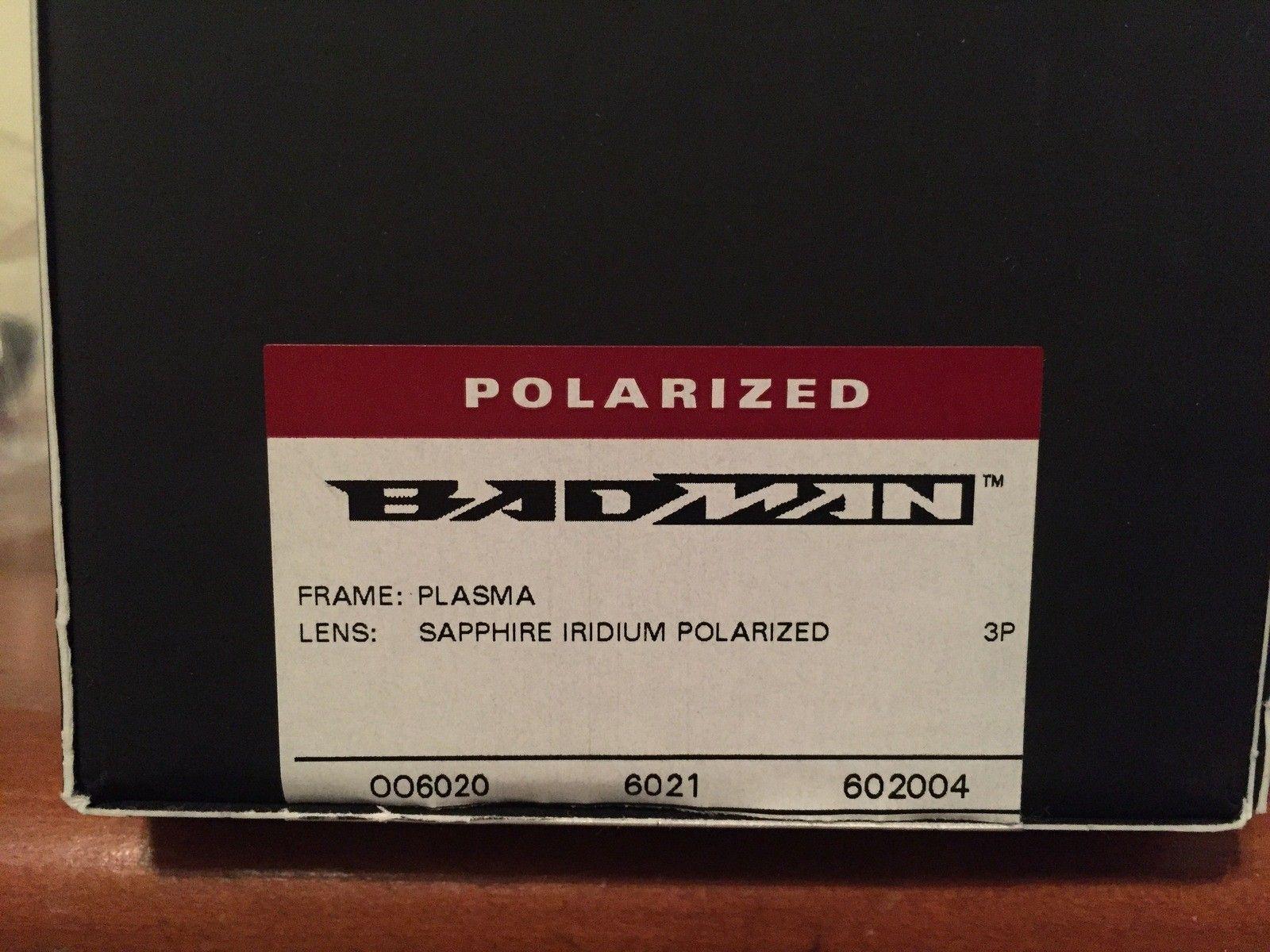 NEW Oakley Badman Sapphire Irid Polarized - IMG_6560.JPG
