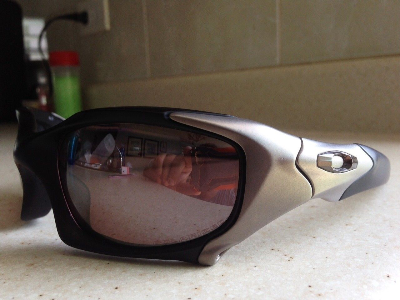 OAKLEY ELITE PIT BOSS 1 MATTE BLACK / TITANIUM / POL BLACK IRIDIUM SUNGLASSES OR TRADE ROMEO 1 - IMG_7235.JPG