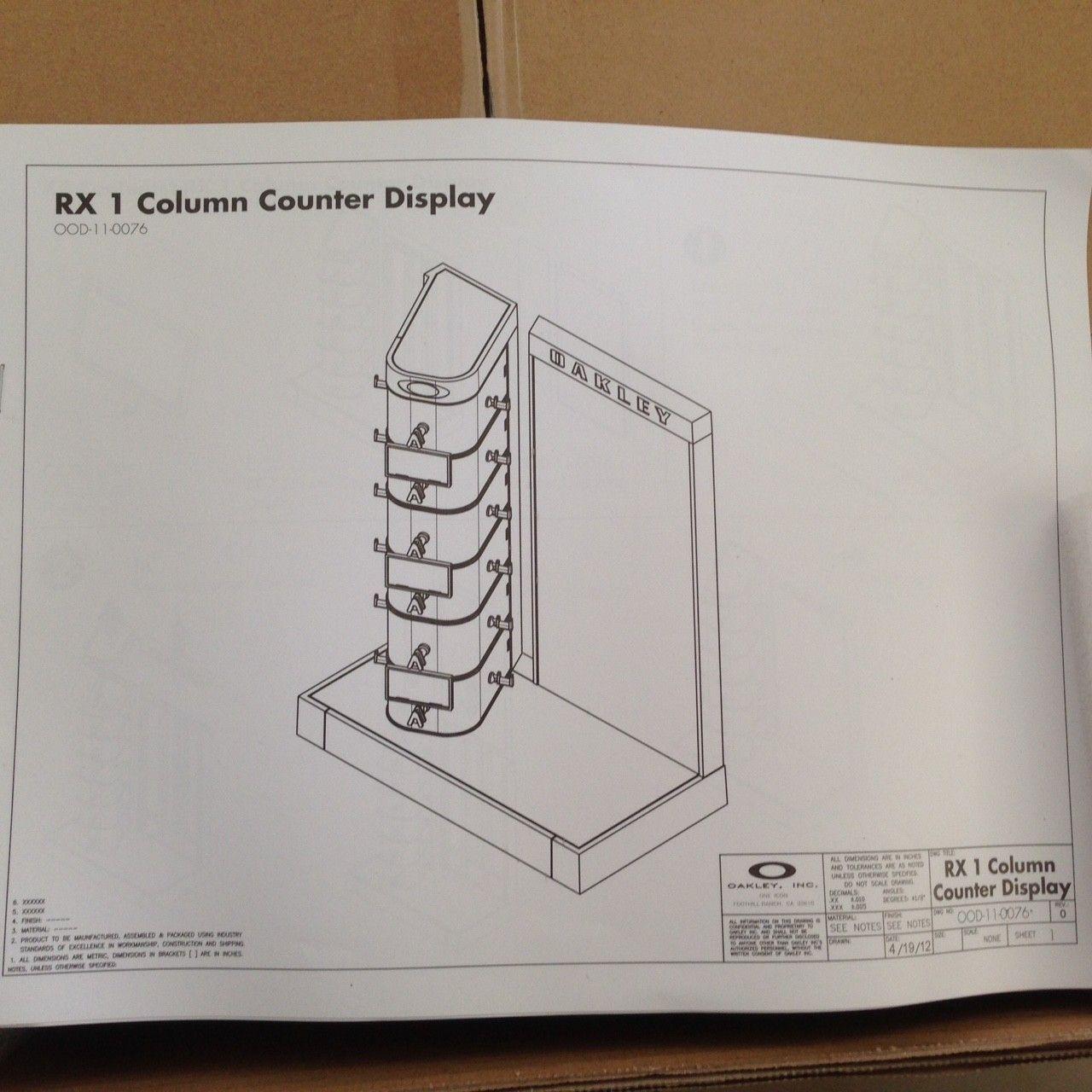 NIB OAKLEY X-METAL SUNGLASSES/ RX FRAME DISPLAY RARE NEW IN BOX! - IMG_7805.JPG