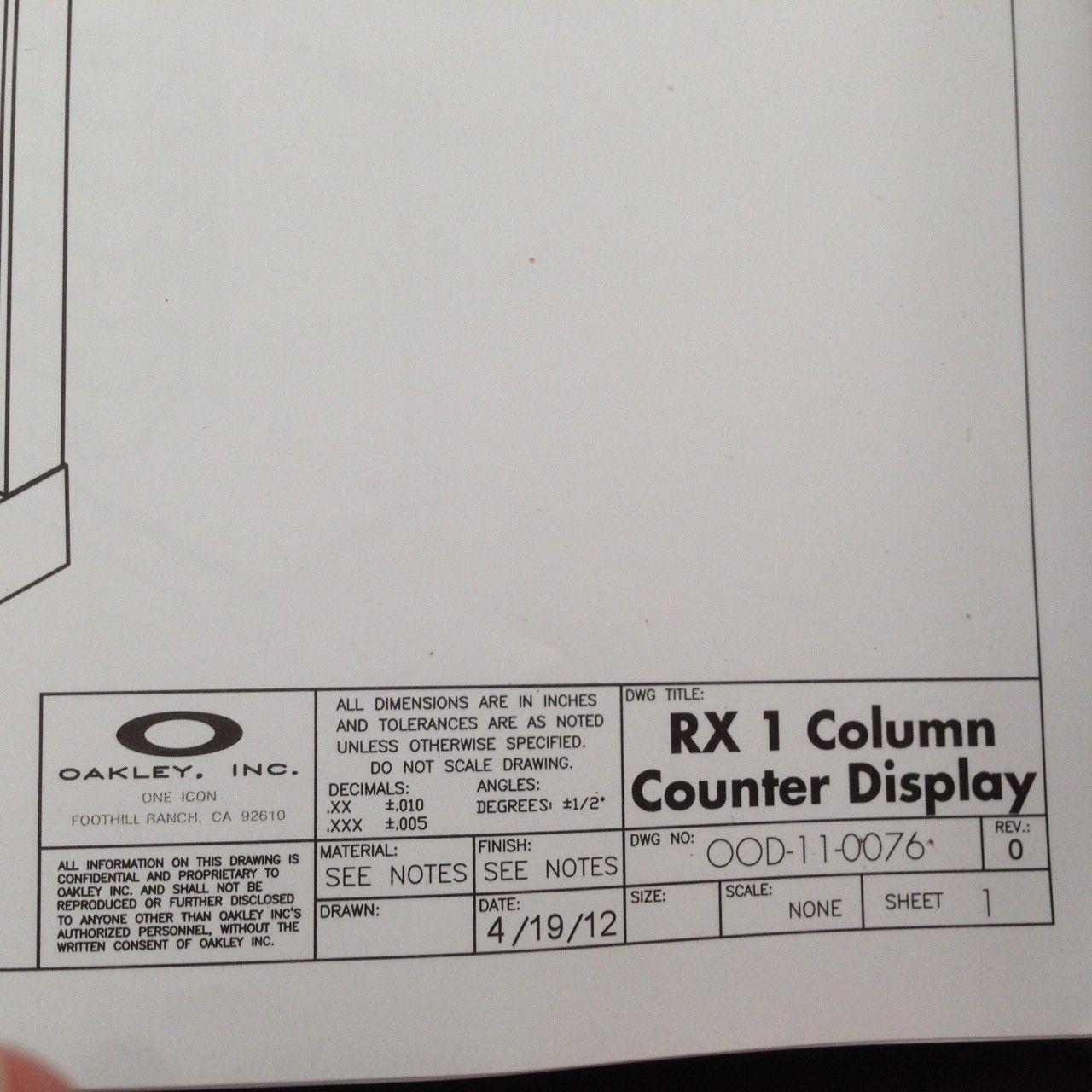 New in Box Oakley Counter Display - IMG_7806.JPG