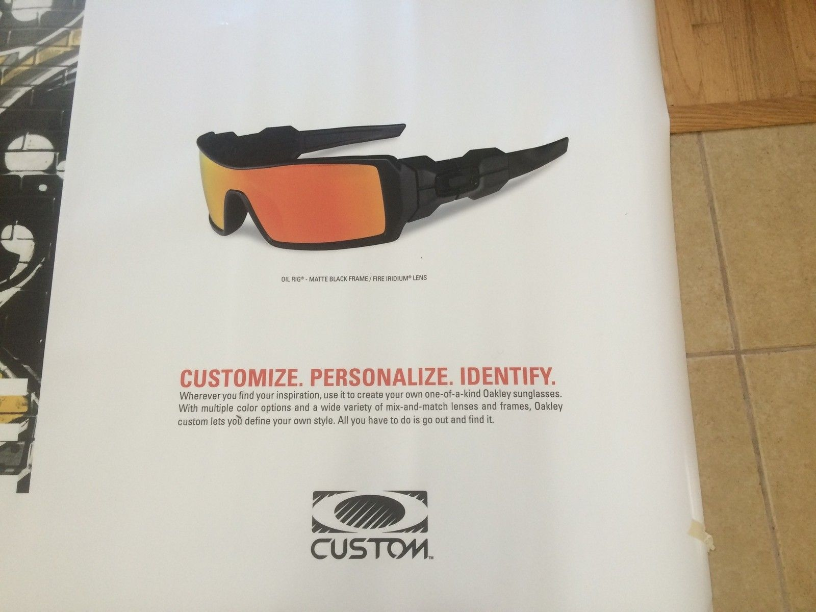 Oakley magnetic sign, when they started to do custom in stores. - IMG_8899.jpg