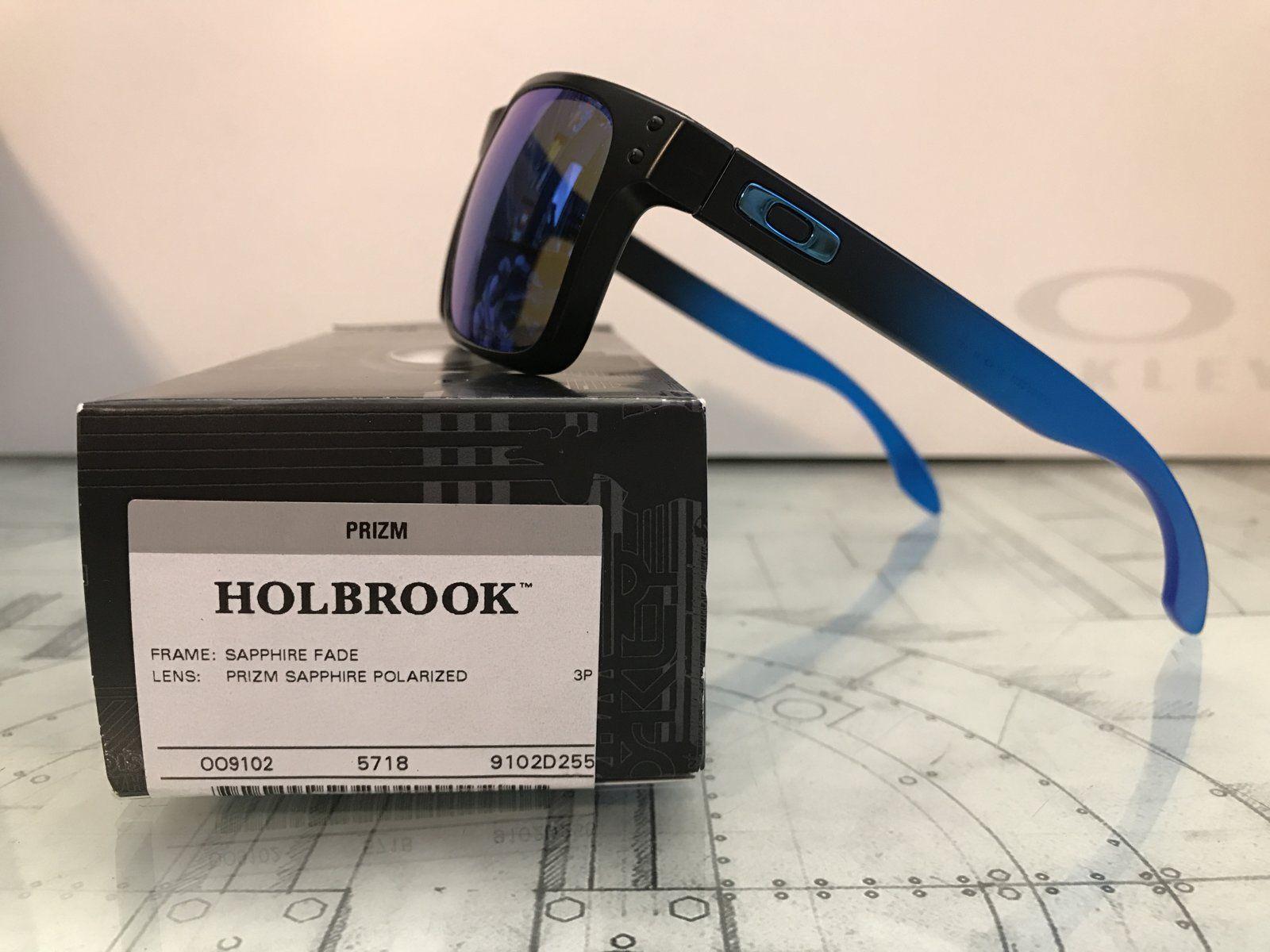 02764cdb0f4 OO9102-D255 Sapphire Fade Prizm sapphire polarized Holbrook--  110 -  IMG 9523.