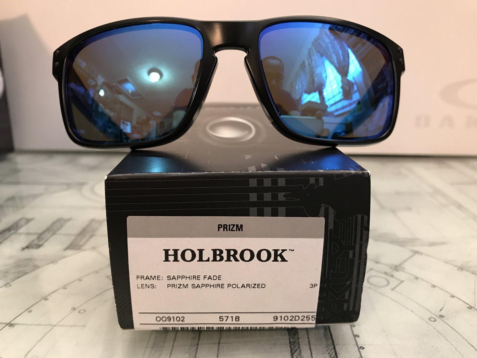 oakley holbrook prizm sapphire polarized