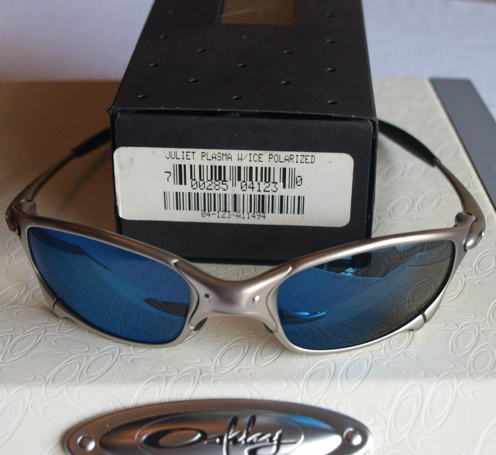 OAKLEY Juliet ? PLASMA ICE Polarized ? VINTAGE ? BNIB ? RARE Serial # Gen 2 For $370 - julietplasmaicepolar.jpg