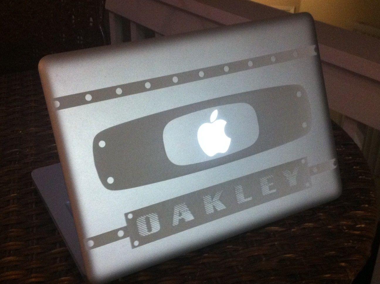 Custom DIY Oakley Display Pieces - macbookoak.JPG