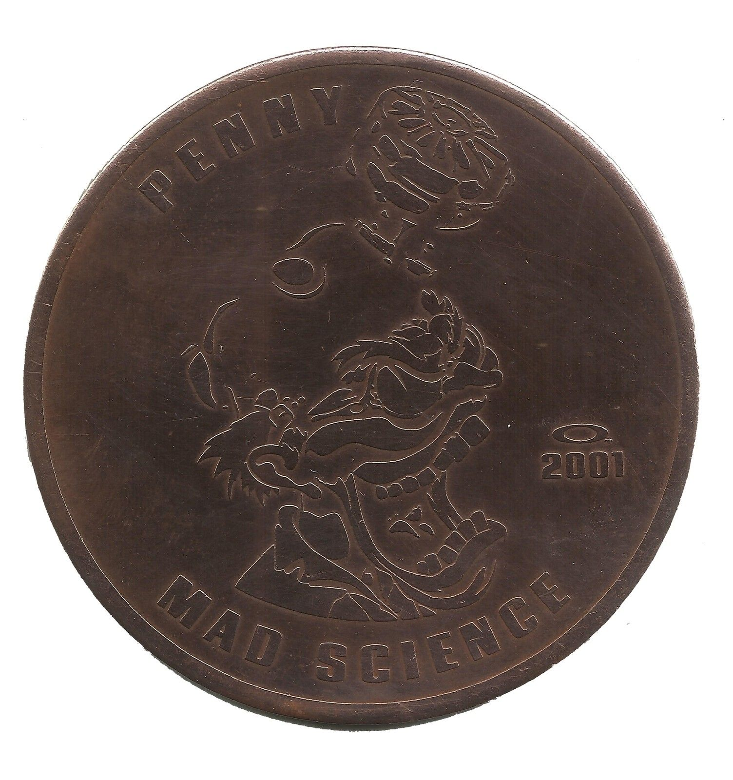 Oakley Penny Copper Coin Specimen - MAD SCIENCE ERA 2001 - Mad Science.jpg