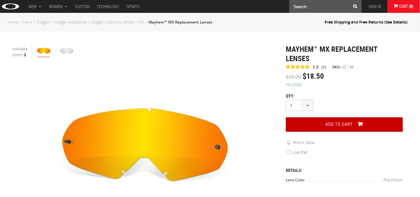 Looking for a Mayhem MX Goggles replacement lens - Mayhem MX.png