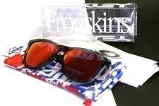 Oakley Frogskins Crystal Black Sunglasses w/ Red Ruby Iridium Lenses - mdsOnE4eYYWS7BfGE-KI81A.jpg