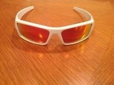 oakley gascan s  For Sale - Oakley Gascan S White Frame/Ruby Iridium Lenses ...