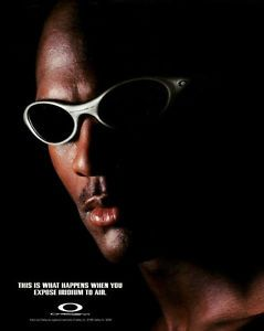 oakley eye jacket  eye jacket fmj with black iridium lenses michael jordan eye jacket