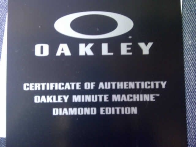 Oakley Minute Machine Diamond Dial BNIB For Sale :) - MMDiamond2.jpg