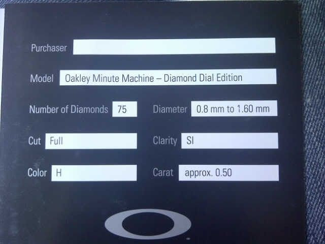 Oakley Minute Machine Diamond Dial BNIB For Sale :) - MMDiamondDial.jpg