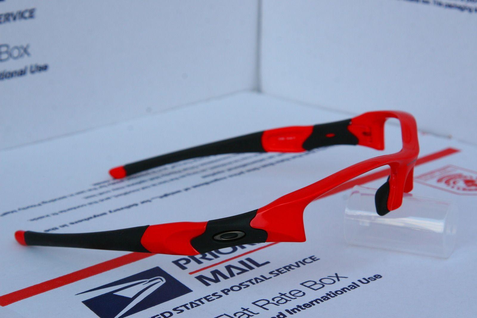 Oakley Flak Jacket Infrared Frame 03-896 And Jade Iridium XLJ Lenses - n4cb.jpg