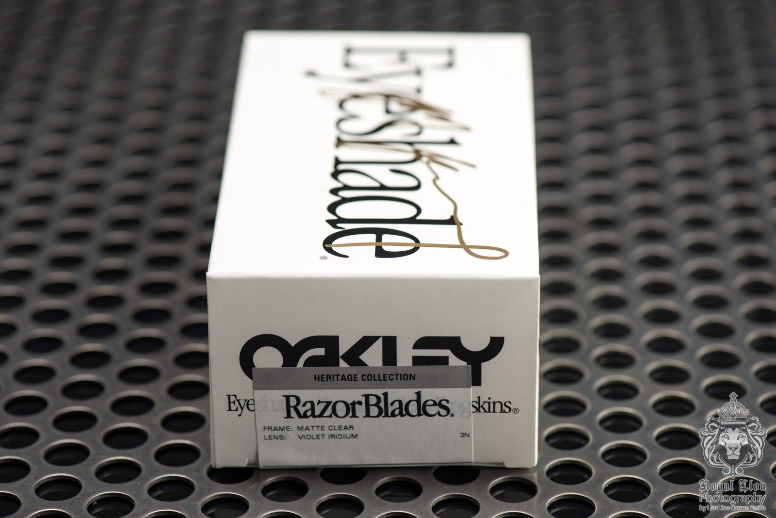 1 of 3 Signed Oakley Heritage Razorblades by Jim Jannard - Matte Clear with Violet Iridium - ND8_3475.jpg