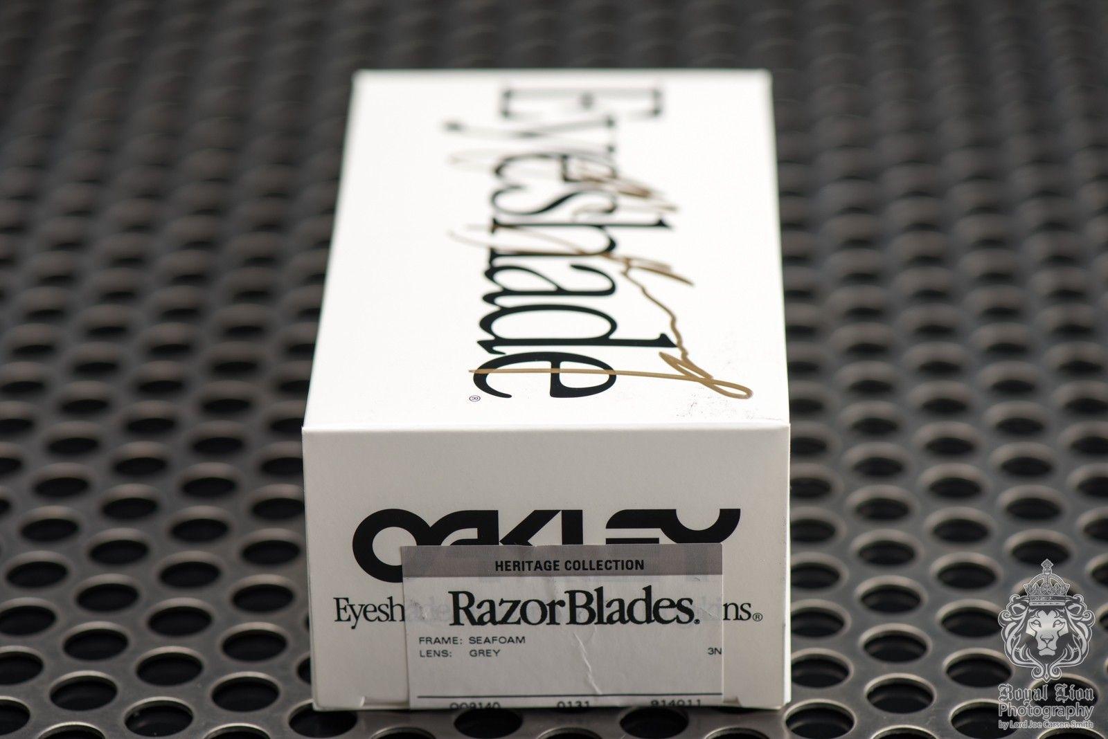 2 of 3 Signed Oakley Heritage Razorblades by Jim Jannard - Seafoam with Grey - ND8_3477.jpg