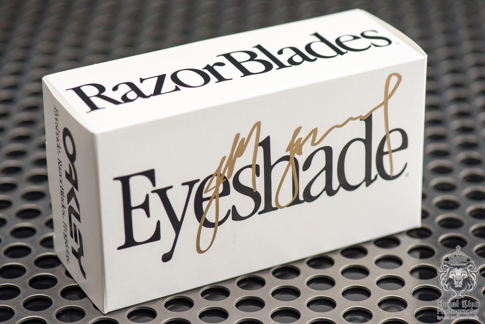 2 of 3 Signed Oakley Heritage Eyeshades by Jim Jannard - Black with Grey - ND8_3478.jpg