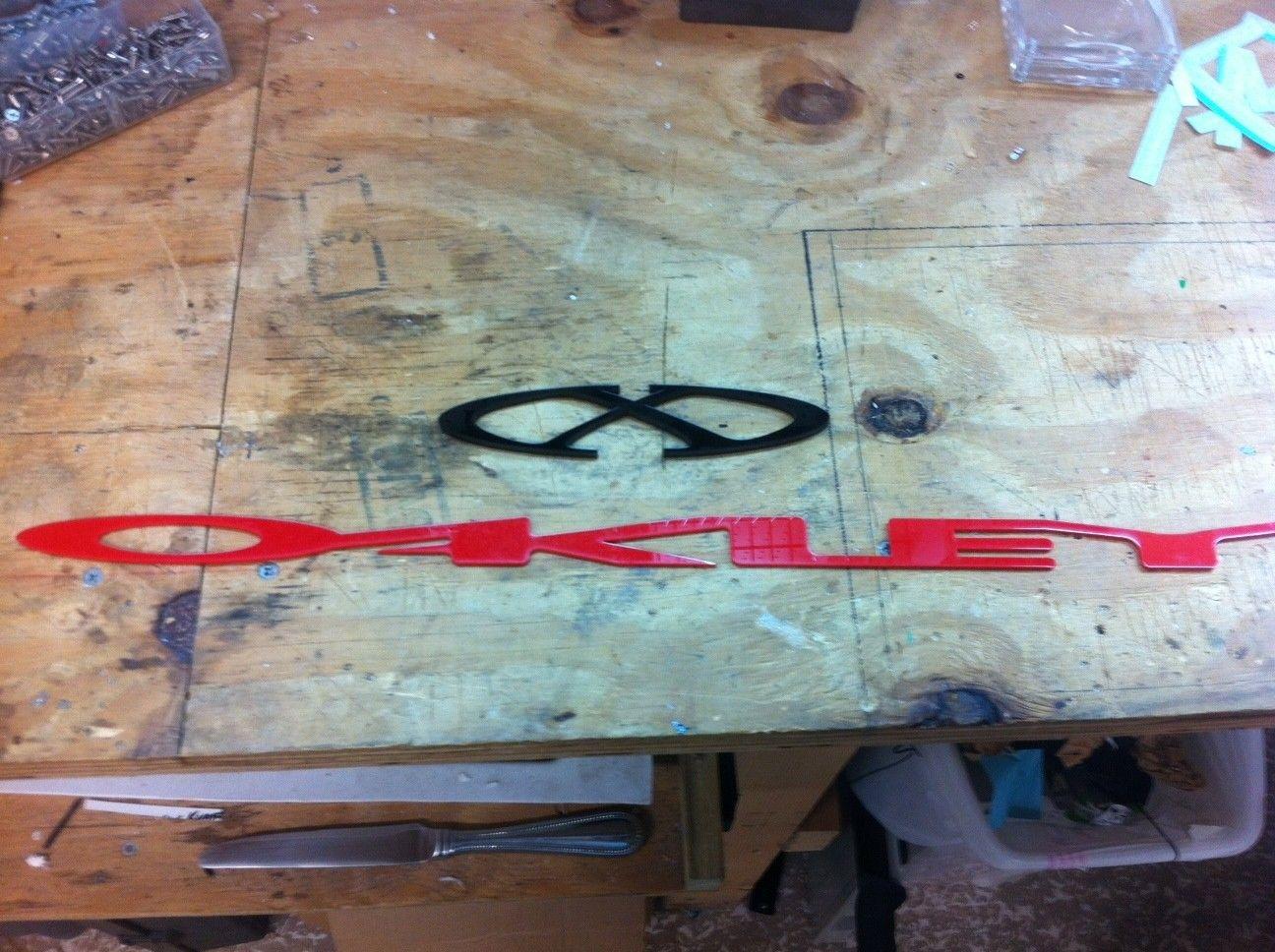 Custom DIY Oakley Display Pieces - oak8.JPG