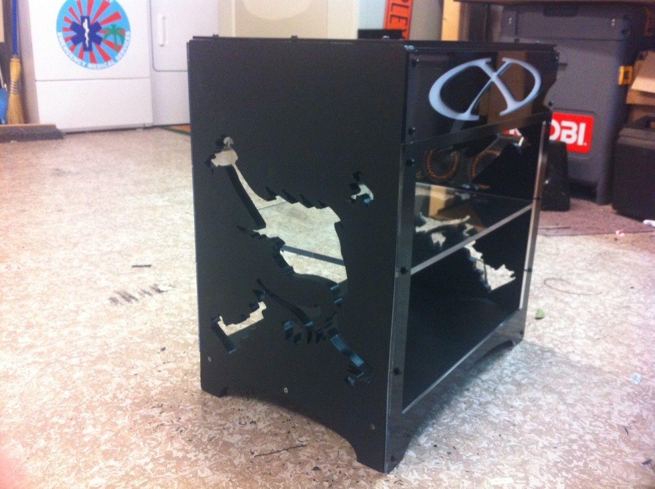 My DIY Oakley X-Metal CUBE Display Case - oakcase3.JPG