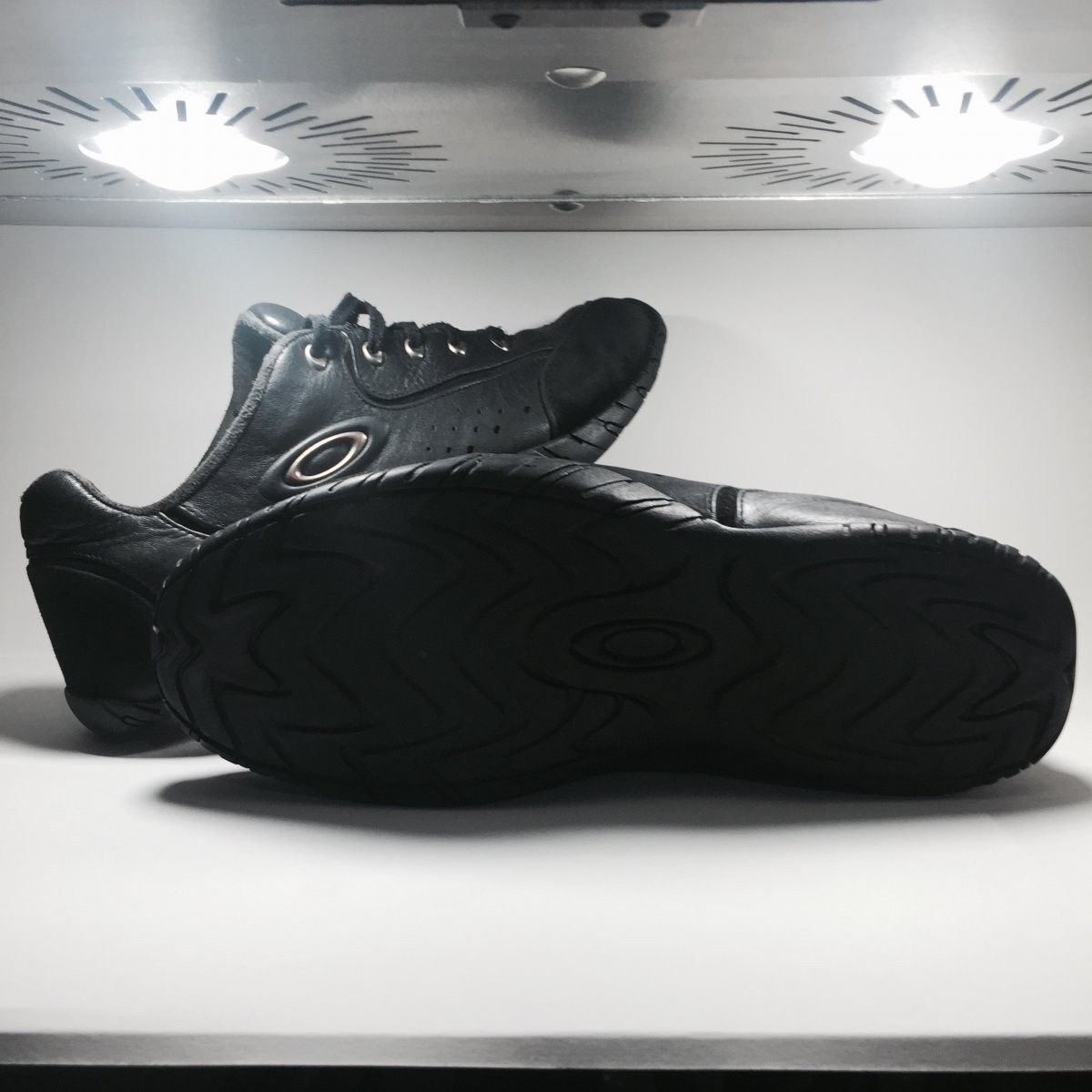 Oakley Shoes Size 12.5 Original Rip Cords Black/Chrome - Oakley Rip Cord Black Chrome (1).jpg