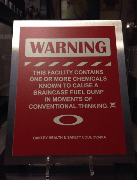 Oakley Warning Sign - Display SOLD!! - Oakley Warning Sign.png