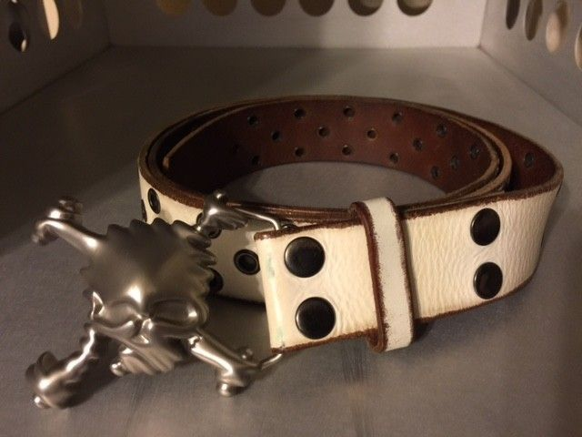 Oakley White Skull Belt XL SOLD - OakleyBelt.JPG