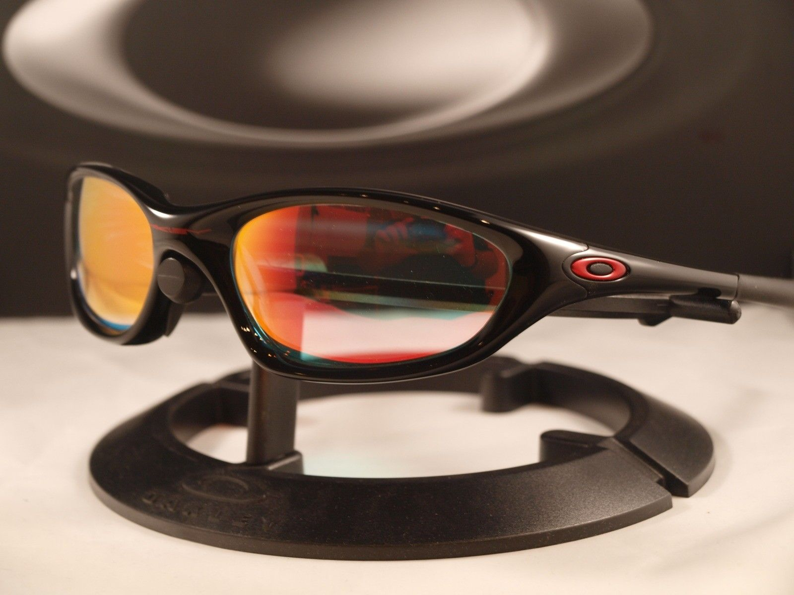 FS: XX / Twenty Polished Black W/Ruby Clear Lens ★ NOS - oakleyxxpolblkrubyiri.jpg