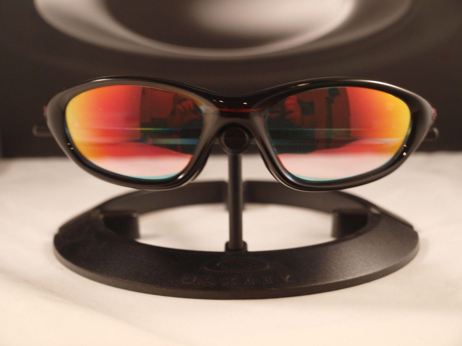 FS: XX / Twenty Polished Black W/Ruby Clear Lens ★ NOS - oakleyxxpolblkrubyiri1.jpg