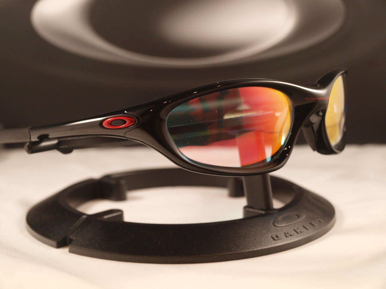 FS: XX / Twenty Polished Black W/Ruby Clear Lens ★ NOS - oakleyxxpolblkrubyiri2.jpg