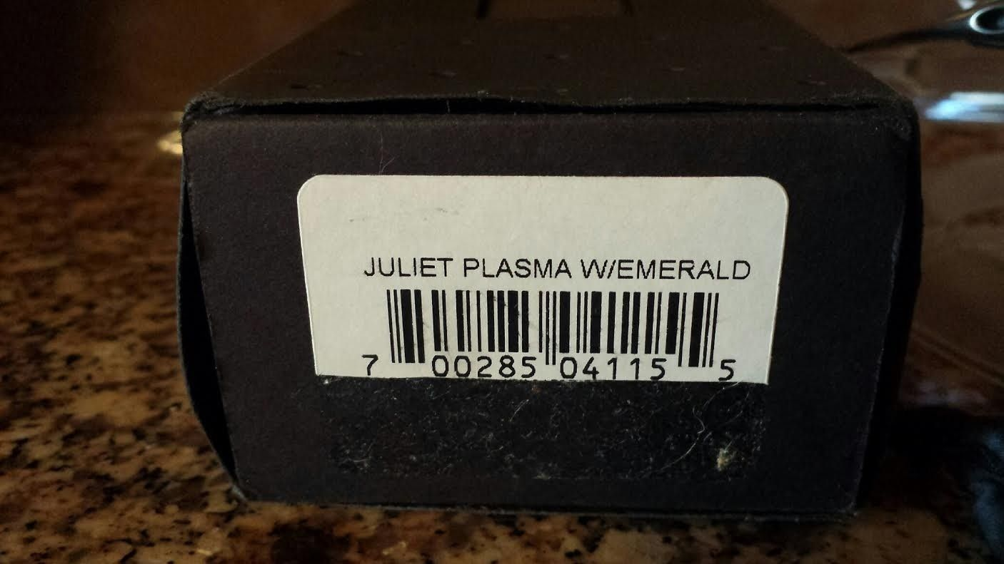 Plasma/Emerald Juliet with Box & Coin - oj8.jpe