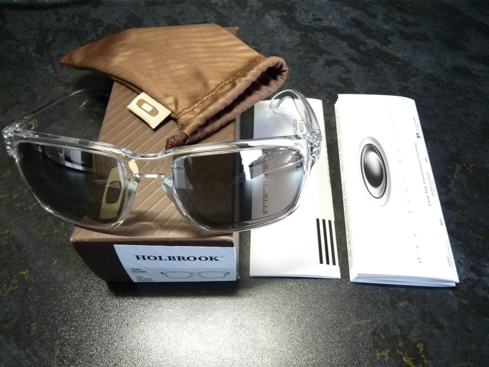 e65f11e5bd2aa Oakley Holbrook Polished Clear Chrome Iridium « Heritage Malta