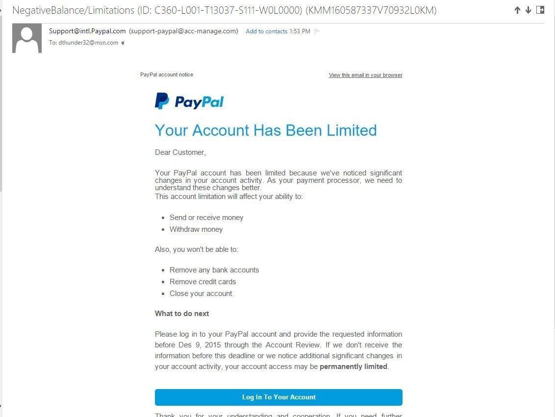 Fake PayPal email - paypal.JPG