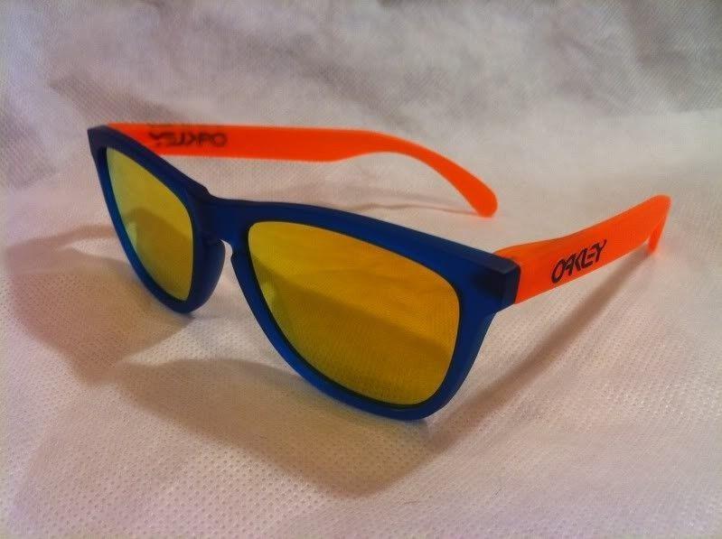 Fresh From The O Store Display Case:  Blacklight Blue / Orange W/ Fire Iridium - photo-1.jpg