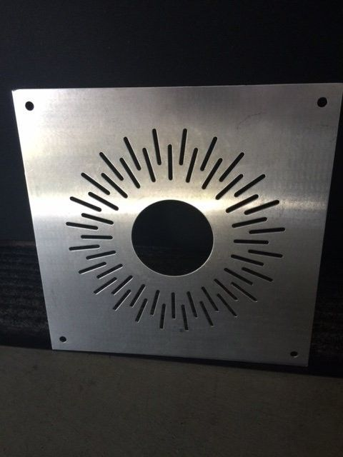 Aluminum Single wide Display Sun Dial Light Cover SOLD - Plate.JPG