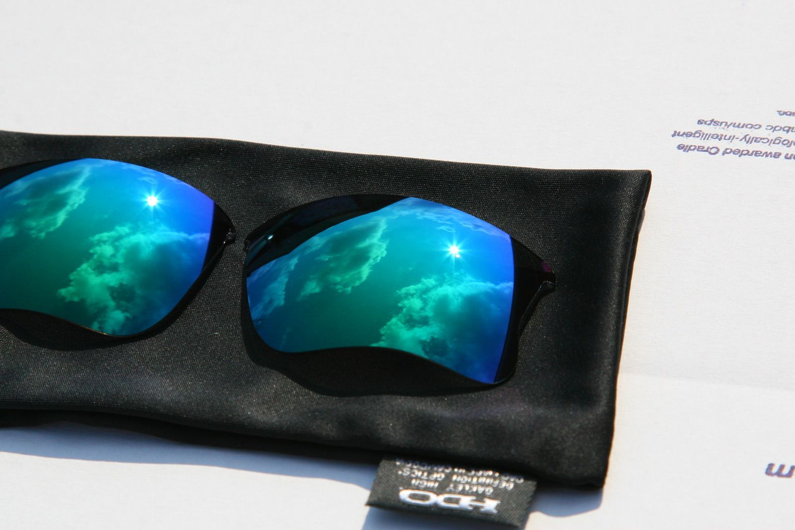 Oakley Flak Jacket Infrared Frame 03-896 And Jade Iridium XLJ Lenses - qgxk.jpg