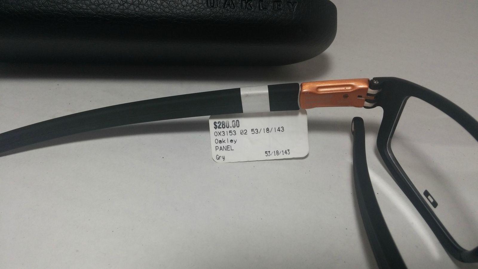 $85 NEW OAKLEY PANEL 53-18 Ox3153-0453 OPT Black Bronze EYEGLASSES - RYzHV8I.jpg