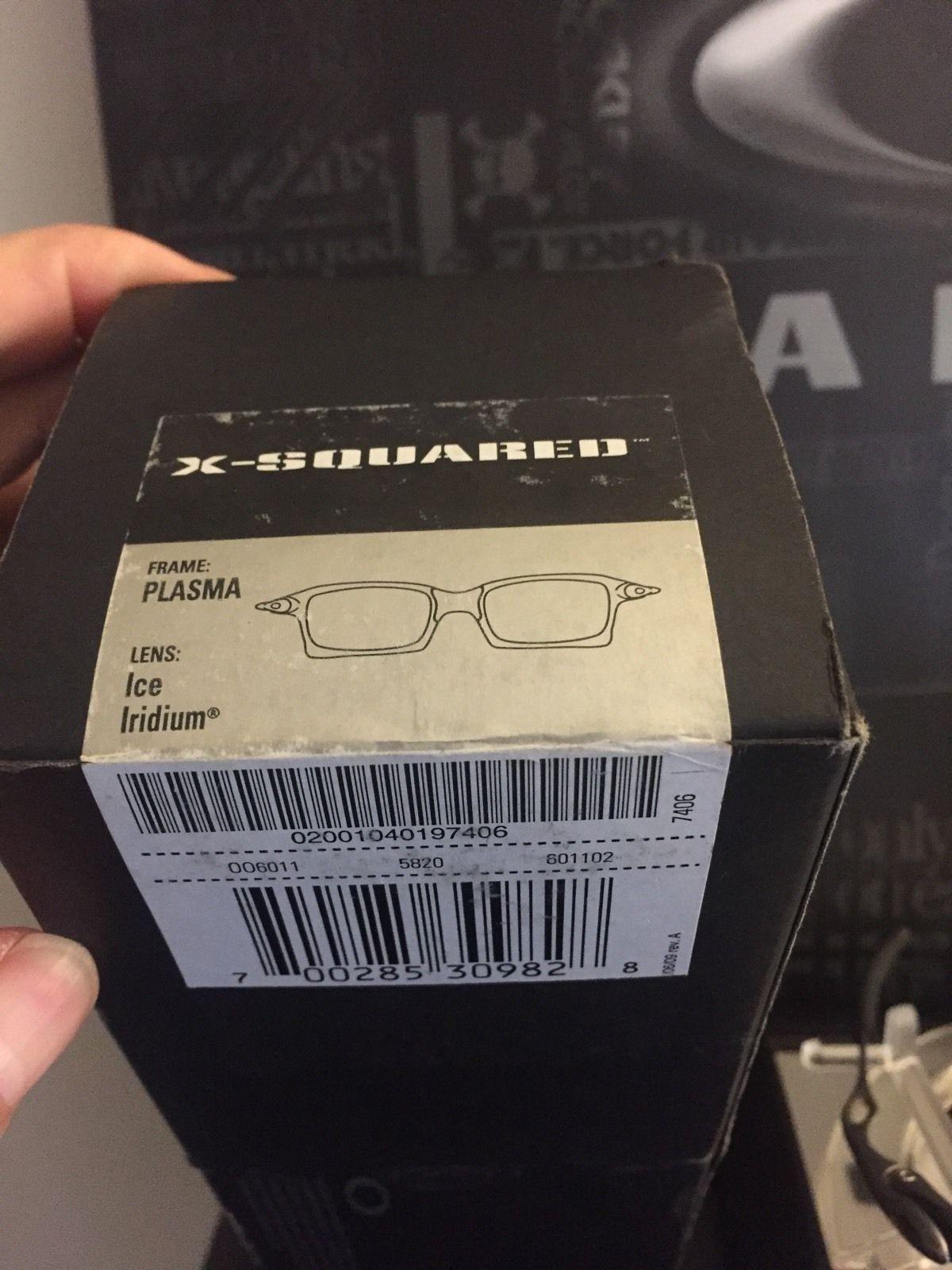 Oakley X-Squared Plasma Box w/ Ice Iridium