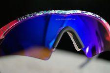 For Sale Oakley Mumbo Splatter M Frame Blue Iridium