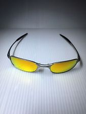 ad8d6a5411 Oakley Square Wire 2.0 SILVER FIRE IRIDIUM Spring Hinge Sunglasses  RARE-Read!