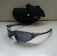 e2905be543f OAKLEY XX TWENTY 1.0 CRYSTAL BLACK w  GREY Sunglasses RARE splice plate  minute - s