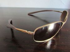 6852472a71 Vintage Oakley Second Gen Square Wire Gold Frame Gold Iridium Lenses Rare  05-431 -