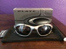 41e0961292 Oakley Plate Rare Dark Silver Frame Black Iridium Sunglasses Free Shipping  - s-l225.