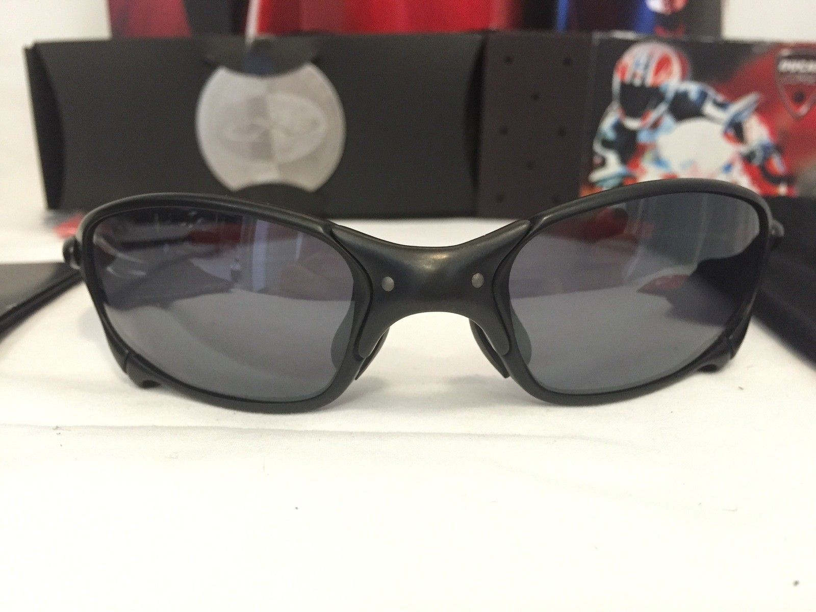 862ba4a69d080 For Sale - Oakley Juliet Ducati Carbon Black Iridium w all ...
