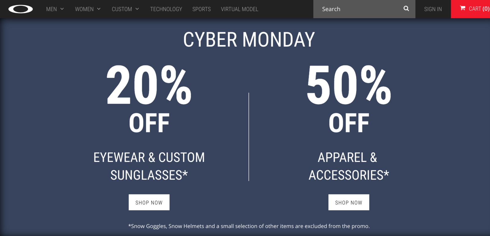 ab74f8c6ae Where are you shopping for Oakley on Cyber Monday  - Screen Shot 2017-11