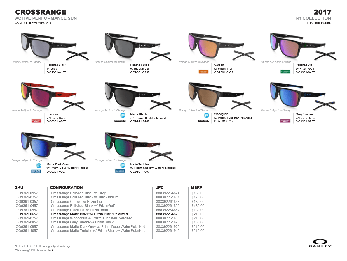 oakley crossrange prizm golf