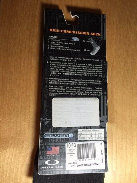 Oakley Compression Socks Sz 10-13 Black, Sheet Metal SOLD - Socks2.JPG