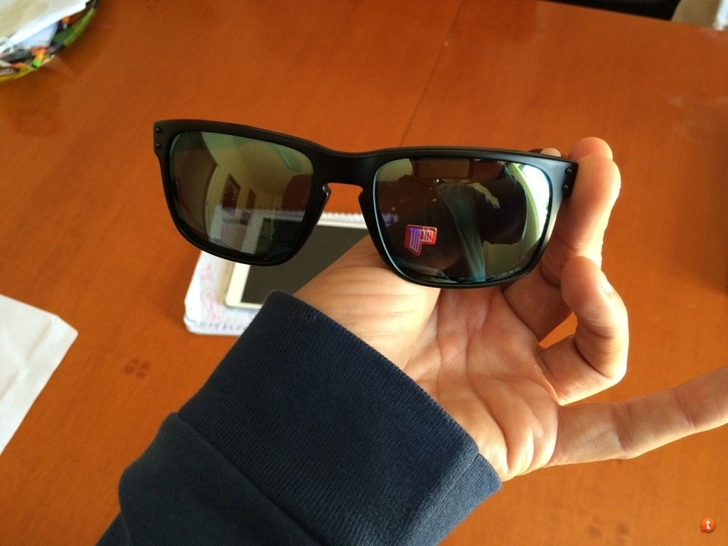 Holbrook Matte Black Frame With Emerald Iridium Polarized New For Trade. - sytarymy.jpg