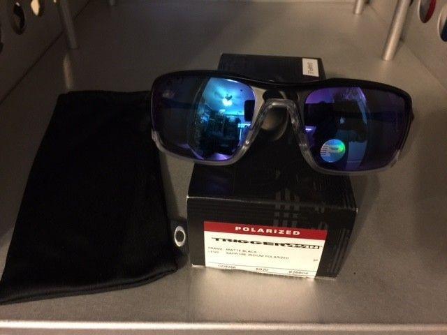 Oakley Triggerman Matte Blk/Sapphire Irid. Polarized SOLD - TriggerS3.JPG