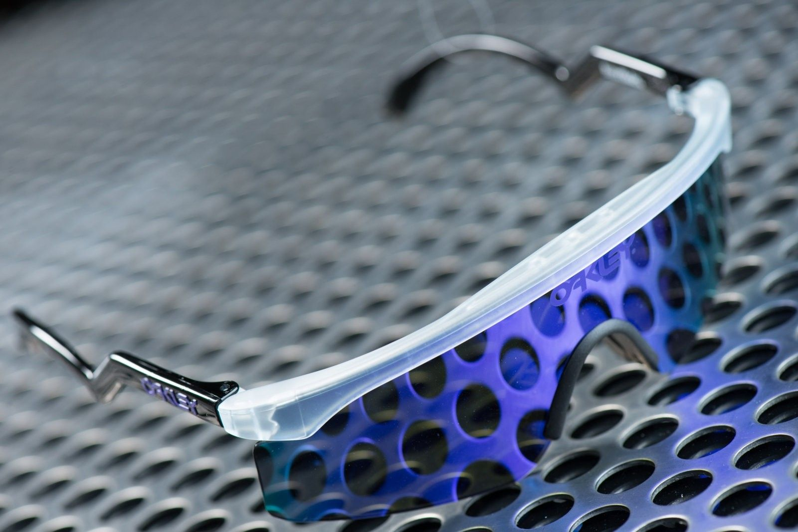 1 of 3 Signed Oakley Heritage Razorblades by Jim Jannard - Matte Clear with Violet Iridium - Untitled Session00340.jpg