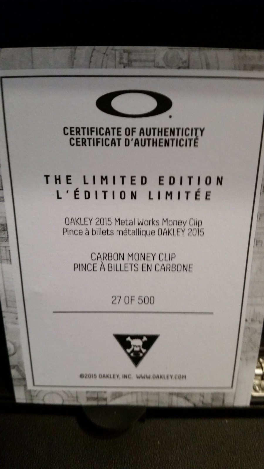 Oakley Carbon Money Clip #27 - uploadfromtaptalk1434398078198.jpg