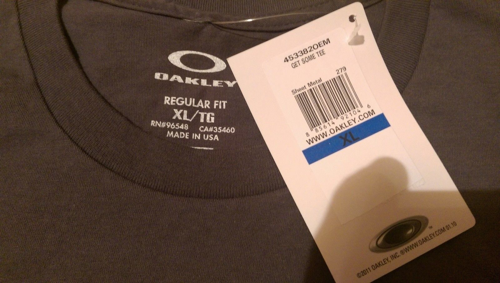 Oakley SI Get Some tee ''Molon Lave'' colour sheet metal size XL - uploadfromtaptalk1442031333450.jpg